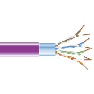 BLACK BOX CAT5E F/UTP SHIELDED STRANDED BULK PVC CABLE, 304,8M - VIOLET (EVNSL0172VI-1000)