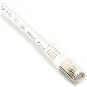 BLACK BOX CAT6 FTP PATCH CABLE, 400 MHZ, SOLID, PVC - WHITE, 7.6M (EVNSL0605MS-0025)