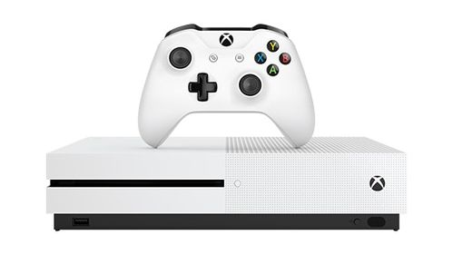 MICROSOFT MS Xbox One S 1TB White with 2 Controllers (234-00606)