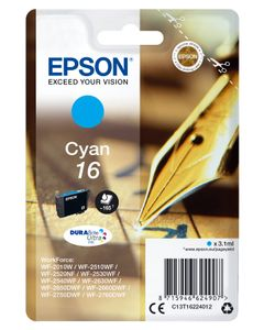 EPSON INK CARTR DURABRITE CYAN 16 RF/AM TAGS SUPL (C13T16224022)