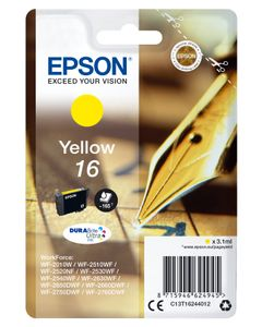 EPSON INK CARTR DURABRITE YEL 16 RF/AM TAGS SUPL (C13T16244022)