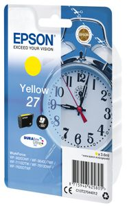 EPSON SGLPCK YELL DURABRITEULTRAINK27 INK CARTRIDGE IN RS BLISTER PACK (C13T27044012)