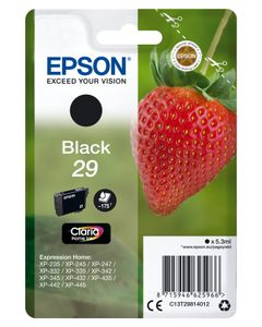 EPSON 29 Black Claria Home Ink w/alarm (C13T29814022)