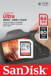 SANDISK Ultra 64GB SDXC UHS-I Card Class10 80MB/s (SDSDUNC-064G-GN6IN)