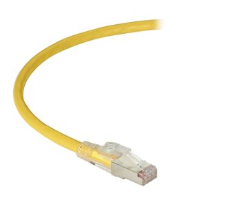 BLACK BOX Patch Cable Lockable CAT6A F/UTP TAA - Yellow 6m Factory Sealed (C6APC80S-YL-20)