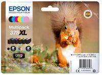EPSON 378XL Mpack Ink (BK, C, M, Y, LC, LM)(With Security) (C13T37984020)