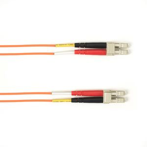 BLACK BOX FO Patch Cable Color Multi-m OM3 - Orange LC-LC 1m Factory Sealed (FOLZH10-001M-LCLC-OR)