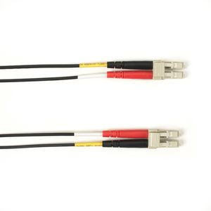BLACK BOX COLOURED SINGLEMODE PATCH CABLE - LSZH DUPLEX - BLACK, LC-LC, 2M (FOLZHSM-002M-LCLC-BK)