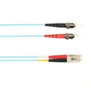 BLACK BOX FIBRE OPTIC MULTIMODE OM4 PATCH CABLES (50-/ 125-µM) - AQUA, LC-ST, 3M (EFE452-003M-AQ)