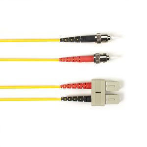 BLACK BOX FO Patch Cable Color Multi-m OM2 - Yellow ST-SC 5m Factory Sealed (FOLZH50-005M-STSC-YL)