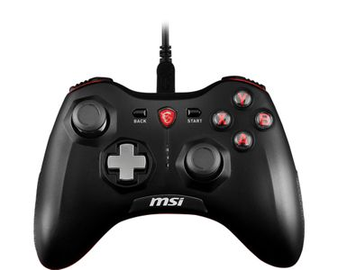 MSI Force GC20 Wired Game Controller with changeable D Pads USB 2m Cable Supports PC PS3 Android (S10-0400030-EC4)
