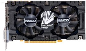 Inno3D GeForce GTX 1070 HerculeZ Twin X2 V4, 8GB GDDR5, HDMI 2.0b, DisplayPort 1.4, 2x DL-DVI-D (N1070-4SDV-P5DS)