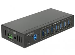 DELOCK External Industry Hub 7 x USB 3.0 Type-A with 15 kV ESD protect