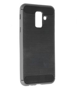 INSMAT BACKCOVER/ CARBON_STEEL GALAXY A6 PLUS 2018 (650-1737)