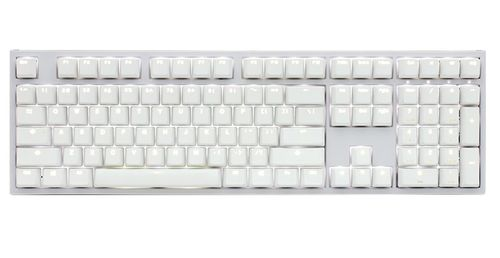 DUCKY One 2 Backlit White Edition_ Cherry MX Red_ Nordic layout /PBT keycaps (DKON1808S-RFIPDWZW1)