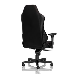 Noblechairs Hero Real Leather Gaming Chair - Black/Red (NBL-HRO-RL-BRD)