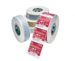 ZEBRA LABEL, PAPER, 55X38MM, THERMAL TRANSFER, Z-PERFORM 1000T, UNCOATED, PERMANENT ADHESIVE, 19MM CORE (3013758)