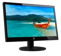 "HP 19ka - LED-skärm - 18.5"" (18.5"" visbar) - 1366 x 768 - 200 cd/m² - 600:1 - 7 ms - VGA - svart"