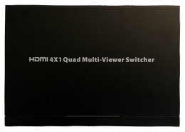 DELTACO HDMI Multiviewer Switch, 4x1 HDMI, Full HD, three display modes, black