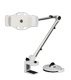 DELTACO 2-in-1 smartphone/ tablet stand, suction cup, clamp, white