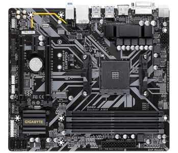 GIGABYTE B450M DS3H Socket AM4 Micro ATX (B450M DS3H)
