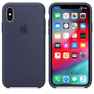 APPLE iPhone XS Silicone Case - Midnight Blue (MRW92ZM/A)