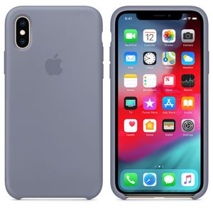 APPLE iPhone XS Silicone Case - Lavender Gray (MTFC2ZM/A)