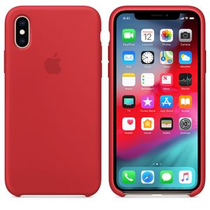 APPLE Iphone XS Silicone Case Red (MRWC2ZM/A)