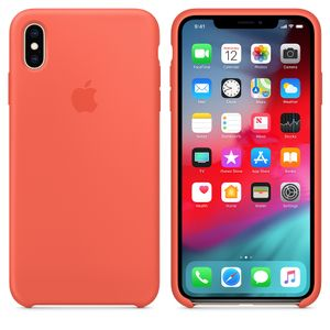 APPLE iPhone XS Max Silicone Case - Nectarine (MTFF2ZM/A)