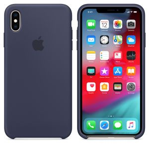 APPLE iPhone XS Max Silicone Case - Midnight Blue (MRWG2ZM/A)