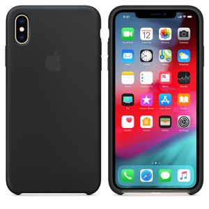 APPLE IPHONE XS MAX SILICONE CASE BLACK (MRWE2ZM/A)