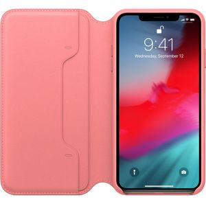 APPLE iPhone XS Max Leather Folio - Peony Pink (MRX62ZM/A)