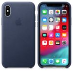 APPLE IPHONE XS LEATHER CASE MIDNIGHT BLUE ACCS (MRWN2ZM/A)