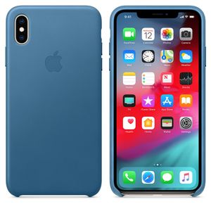 APPLE IPHONE XS MAX LEATHER CASE CAPE COD BLUE (MTEW2ZM/A)
