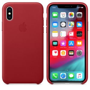 APPLE iPhone XS Leather Case - (PRODUCT)RED (MRWK2ZM/A)