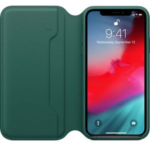 APPLE IPHONE XS LEATHER FOLIO FOREST GREEN ACCS (MRWY2ZM/A)
