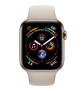 APPLE Watch Series 4 GPS + Cellular 40mm Gold Stainless Steel Case with Stone Sport Band (MTVN2KS/A)