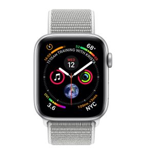 APPLE Watch 4 GPS, 44mm Silver Aluminum, Seashell Sport Loop (MU6C2DH/A)