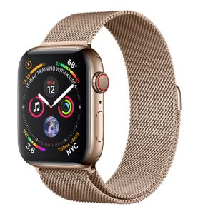 APPLE Watch Series 4 GPS + Cellular 44mm Gold Stainless Steel Case with Gold Milanese Loop (MTX52KS/A)