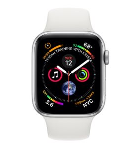APPLE Watch Series 4 GPS + Cellular 40mm Silver Aluminium Case with White Sport Band (MTVA2KS/A)