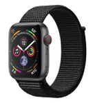 APPLE Watch Series 4 GPS + Cellular, 44mm Space Grey Aluminium Case with Black Sport Loop (MTVV2DH/A)