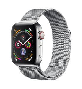 APPLE Watch Series 4 GPS + Cellular 40mm Stainless Steel Case with Milanese Loop (MTVK2KS/A)