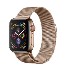 APPLE Watch Series 4 GPS + Cellular 40mm Gold Stainless Steel Case with Gold Milanese Loop (MTVQ2KS/A)