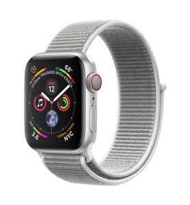 APPLE Watch Series 4 GPS + Cellular 40mm Silver Aluminium Case with Seashell Sport Loop (MTVC2KS/A)