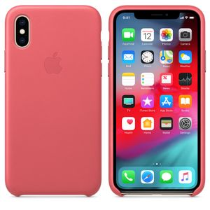 APPLE IPHONE XS LEATHER CASE PEONY PINK (MTEU2ZM/A)