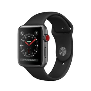 APPLE WATCH SERIESA3 GPS+CELL 38MM SPACE GREY ALUM BLK SPT BAND     IN CONS (MTGP2FS/A)