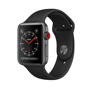 APPLE Watch Series 3 GPS + Cellular 42mm Space Grey Aluminium Case with Black Sport Band (MTH22FS/A)