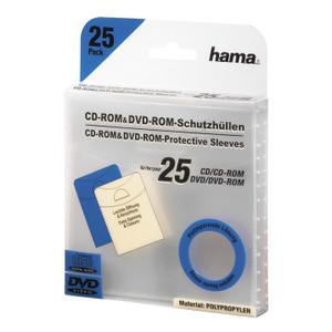 HAMA CD DVD-Ficka I PP Transparent 25-Pack (00033808)