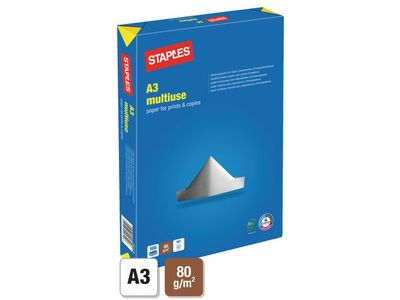STAPLES Kopipapir STAPLES Multiuse A3 80g 500/p (7216204)