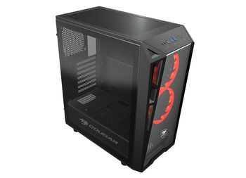 COUGAR Case Turret Mid tower Temp. glass trans. side window 1x120mm fan (385QM20.0001)